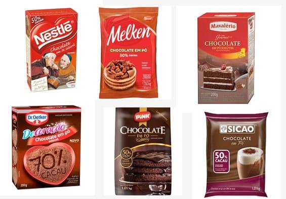 chocolate em po