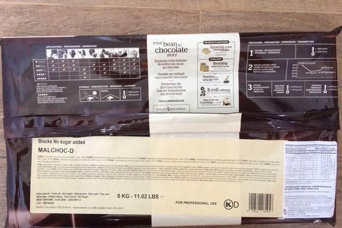 chocolate validade